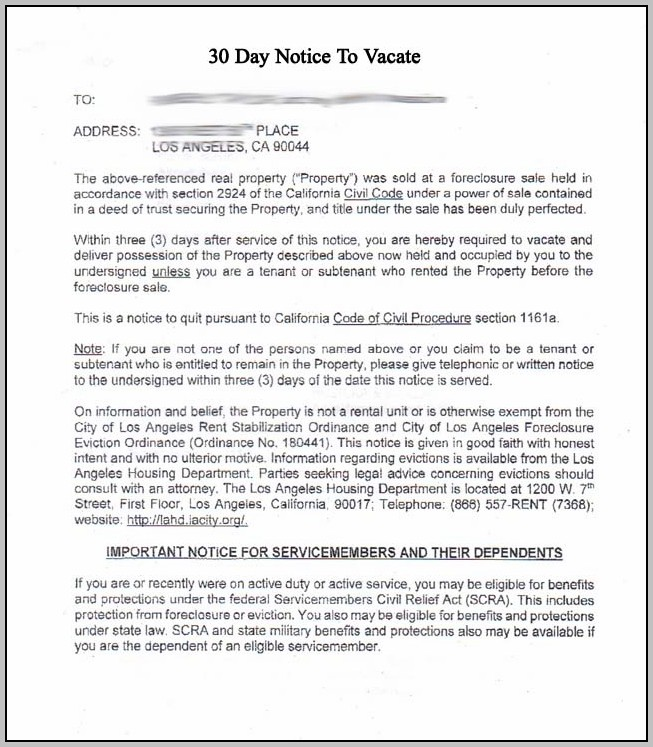 3 Day Eviction Notice Template Ohio