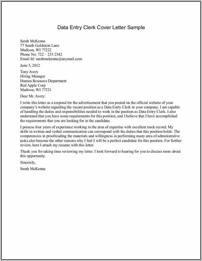 Entry Level Help Desk Cover Letter Sample
