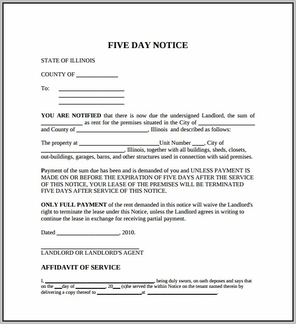 Eviction Notice Template Mn