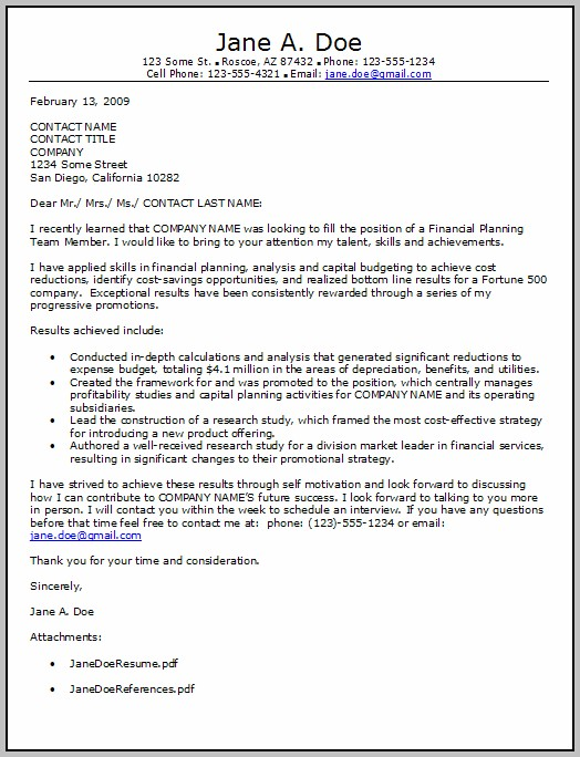 Financial Advisor Cover Letter No Experience - Cover letter ...