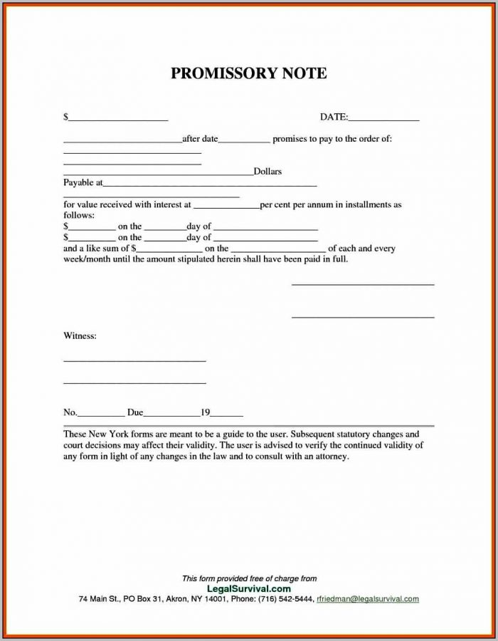Promissory Note Format Under Negotiable Instrument Act