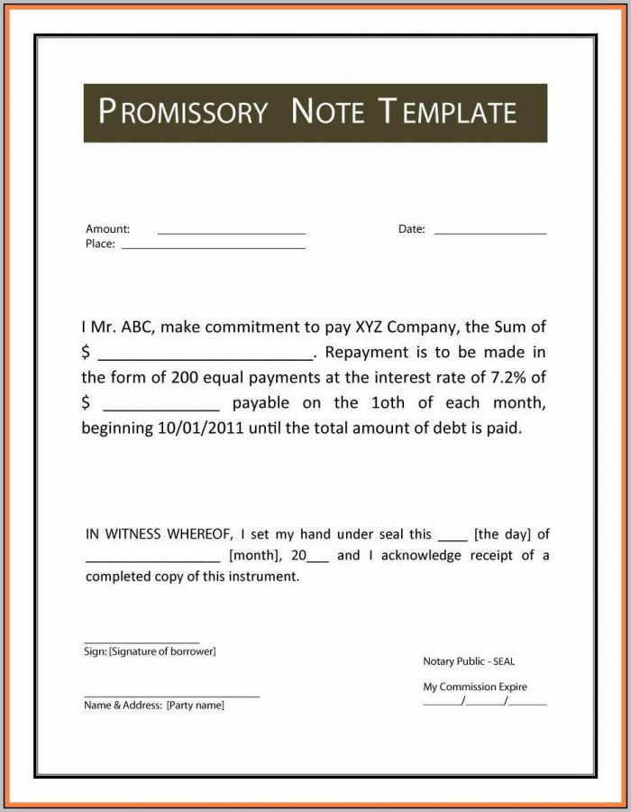 Promissory Note Sample Hospital