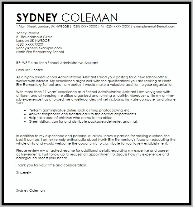 Sample Cover Letter For Resume Office Assistant