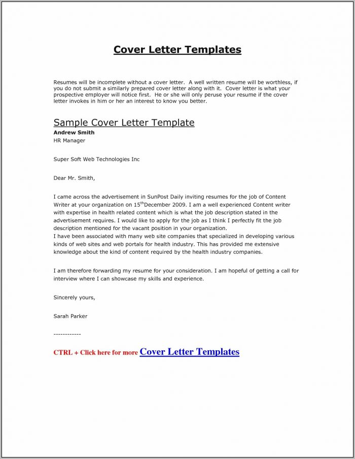 Sample Cover Letter For Job Application Doc Easy Resume Samples Regarding Cover Letter Example Doc
