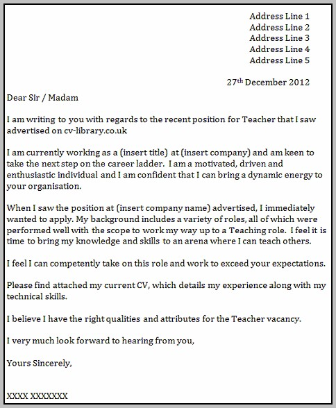 Sample Cover Letter For Teaching Assistant Job Uk