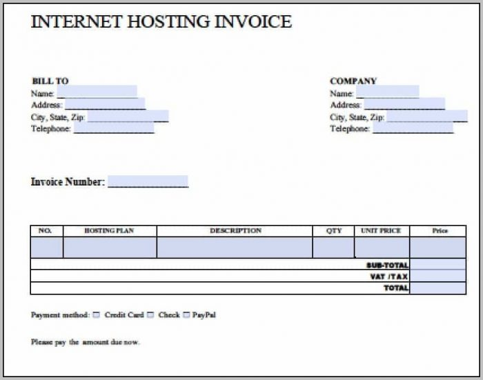 Blank Invoice Template In Word