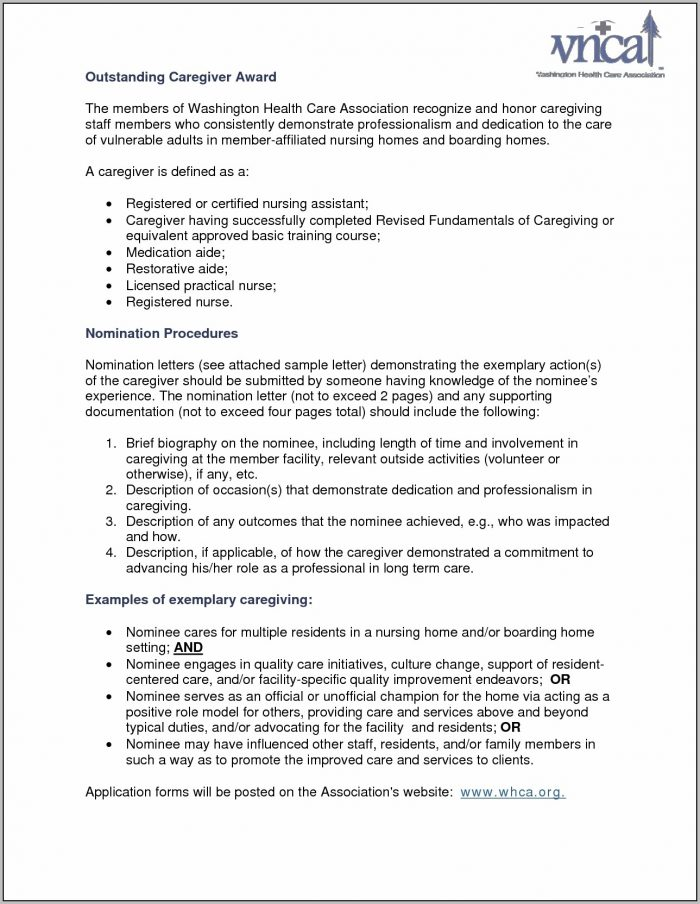 Cover Letter Examples For Elderly Caregiver