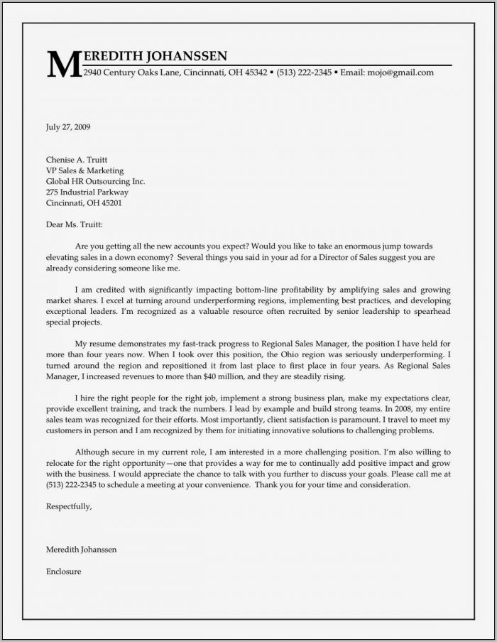Cover Letter Examples For Job Hunting