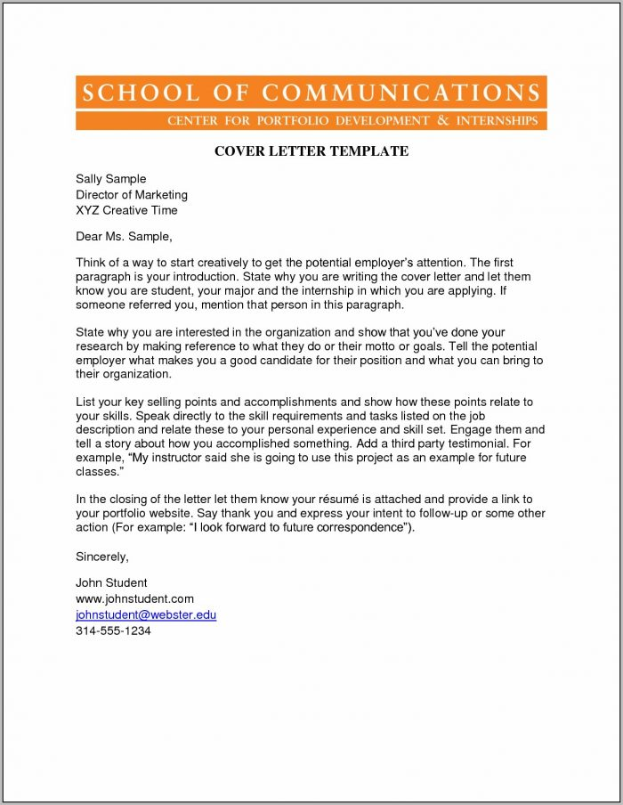 Cover Letter For Creative Job Examples
