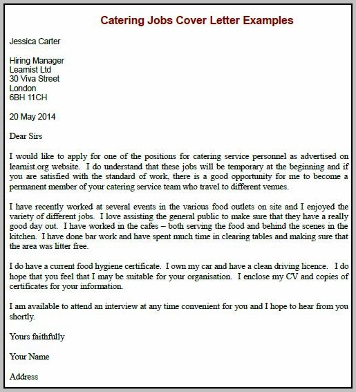 Cover Letter Requesting Job Vacancy