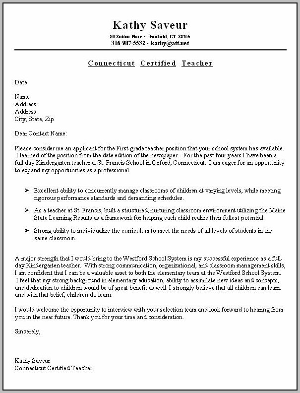 Cover Letters For Job Interviews Examples