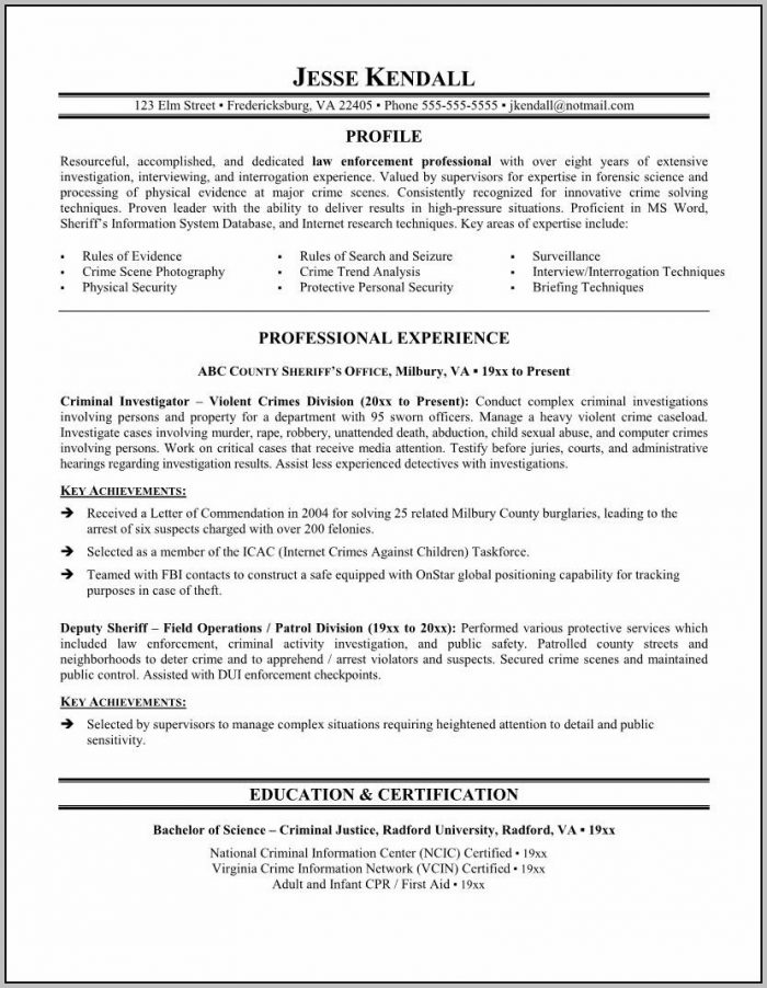 Example Of Cover Letter And Resume For Correction Officer Job
