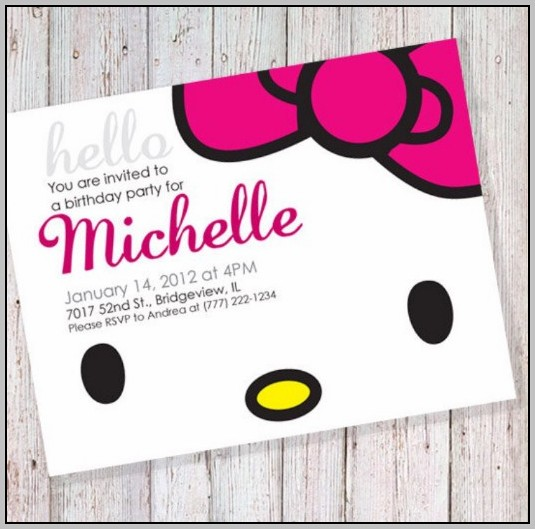 Free Party Invitation Templates Hello Kitty