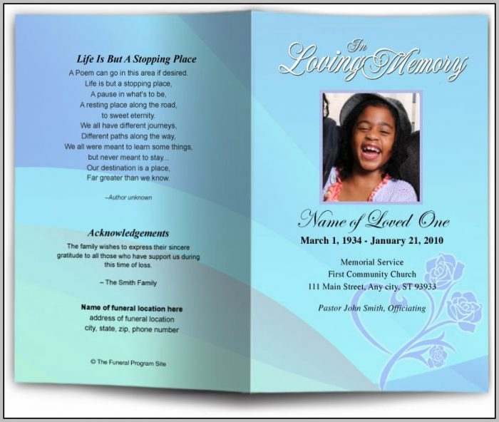 Funeral Program Template Google Docs