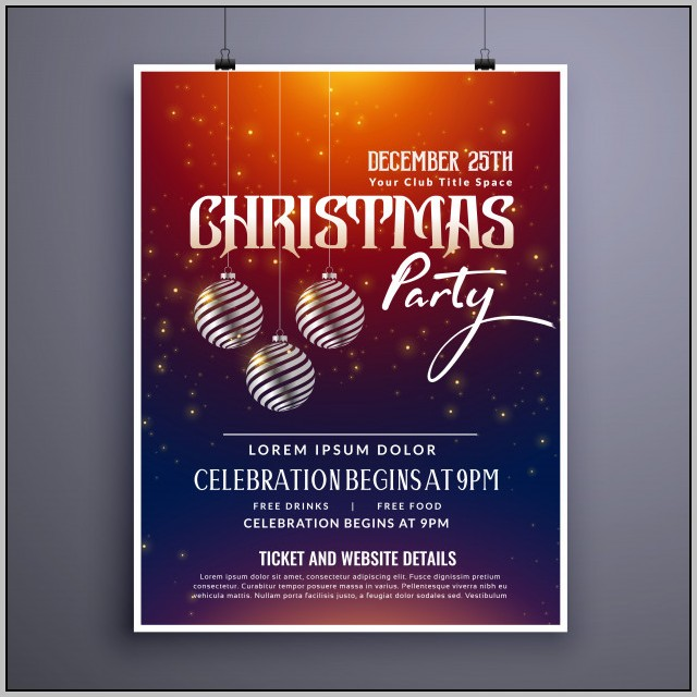 Glow Party Invitation Template Free