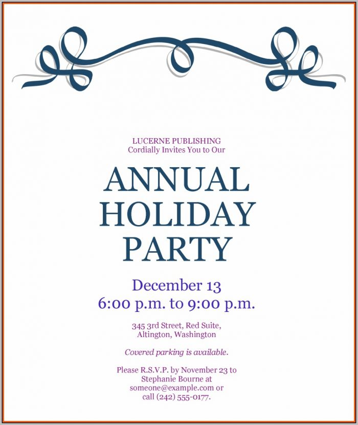 Holiday Party Invitation Template Wordholiday Party Invitation Template Word