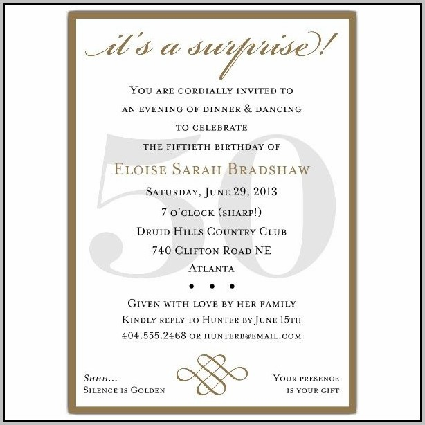 Party Invitation Format Email