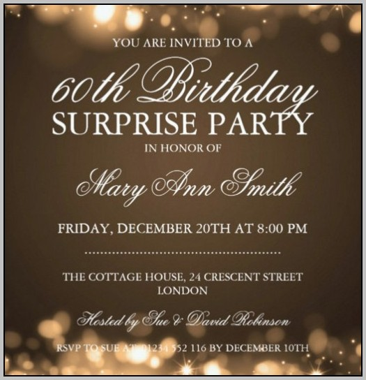 Party Invitation Template Free Word
