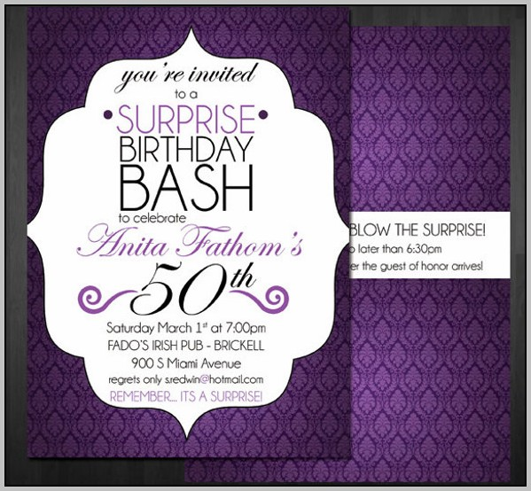 Party Invitation Templates 60th Birthday