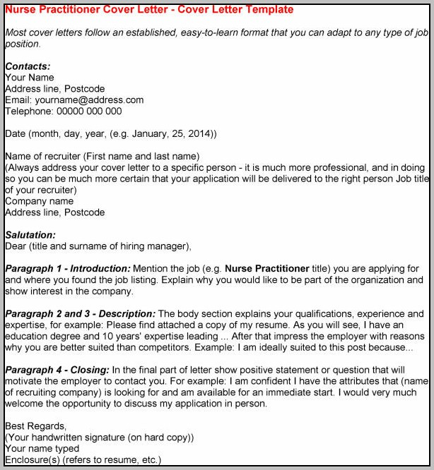 Resume Cover Letter Examples Nurse Practitioner