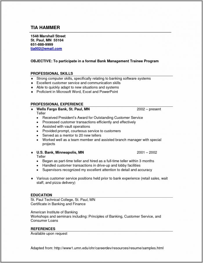 Skill Resume Resume Samples Bank Teller Resume Samples Cover For Simple Resume Examples