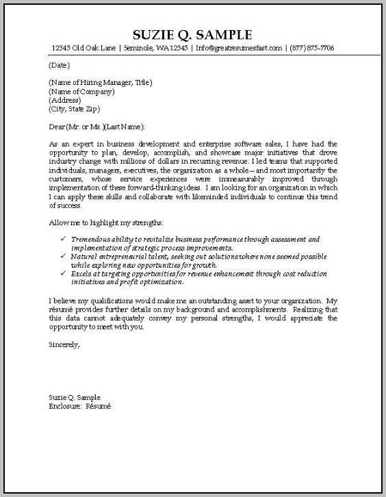 Sample Cover Letter For Resume Director Of Sales