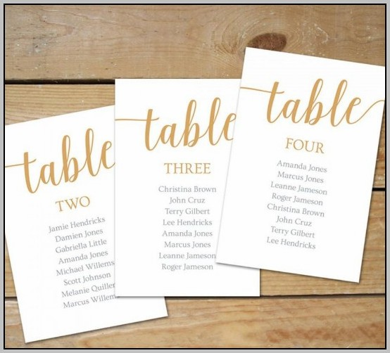 Wedding Seating Chart Template Download
