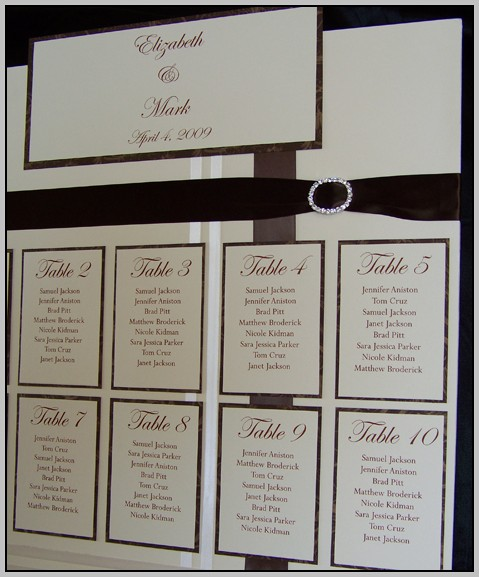 Wedding Seating Chart Template Long Tables