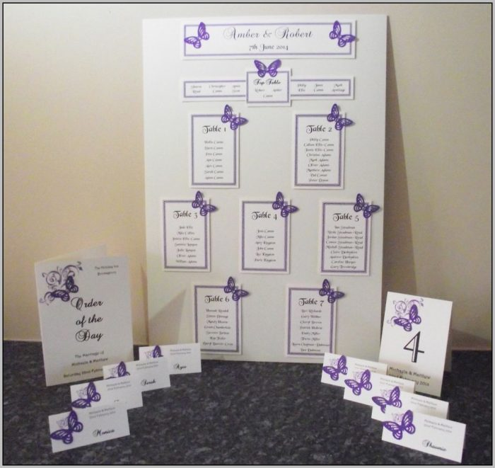 Wedding Seating Plan Template A3