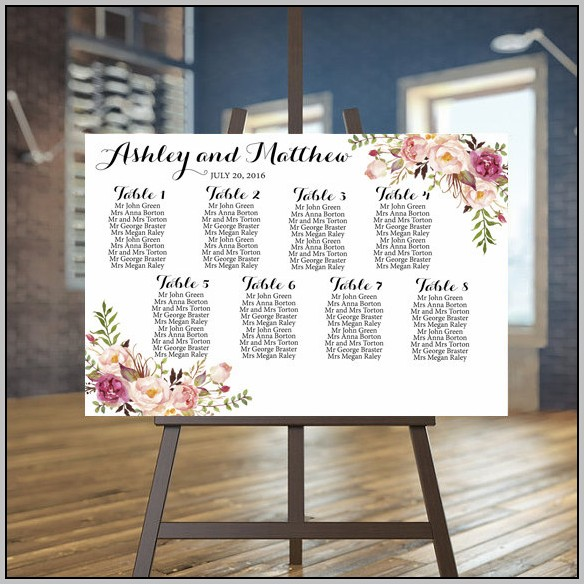 Wedding Seating Plan Template List