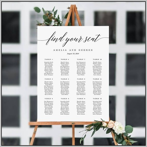 Wedding Seating Plan Template Top Table
