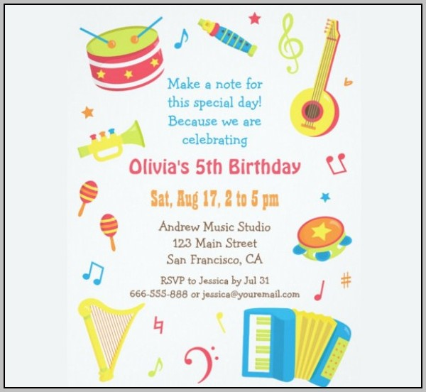 Birthday Party Invitation Template For Word