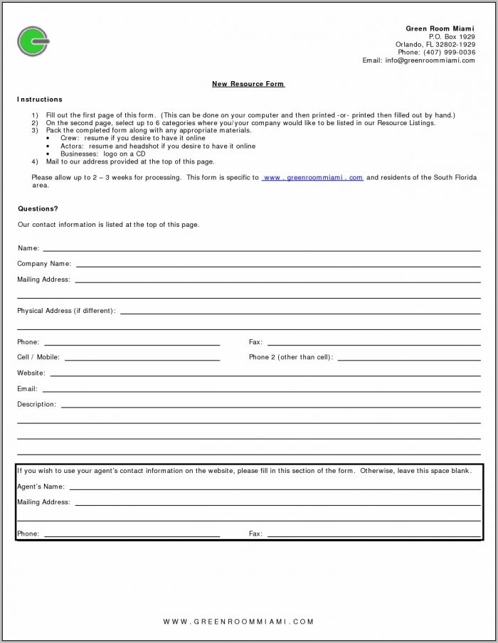 Example Resume Fill In The Blank