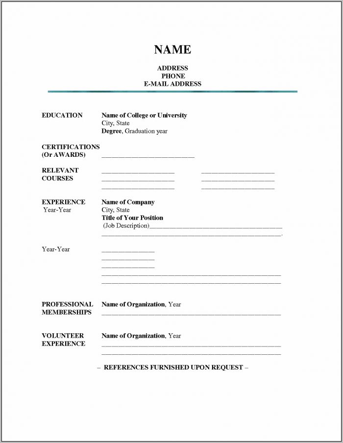 Resume Examples Blank Resume Template Word Professional Resume Inside Word Resume Template Download