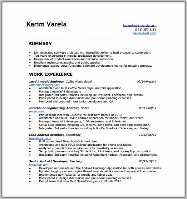Filemaker Android - Template : Resume Examples #ykA92KLE5r