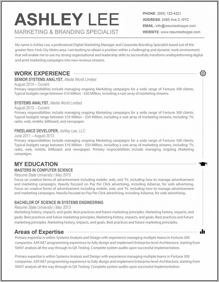Resume Template Microsoft Word Professional Resume Template With Regard To Resume Template Word