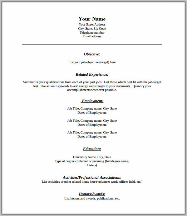 Free Resume Templates That Are Printable