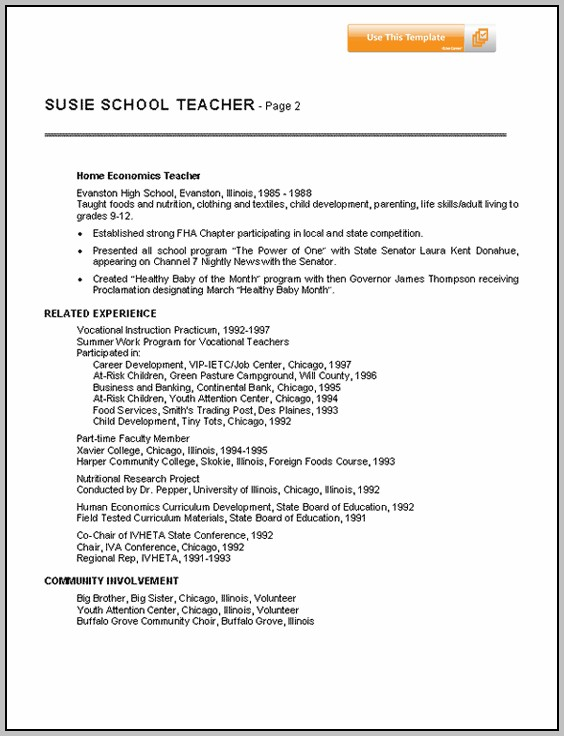 Resume For Teachers Sample In India