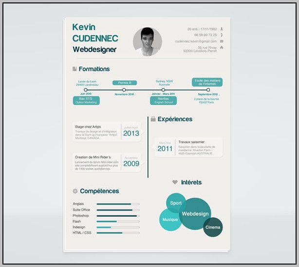 Resume Templates Free Download Psd
