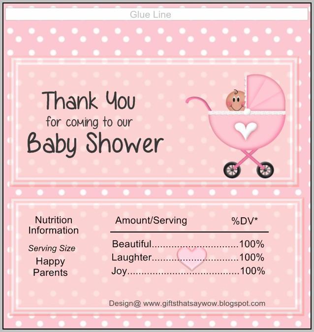 Baby Candy Bar Wrapper Template