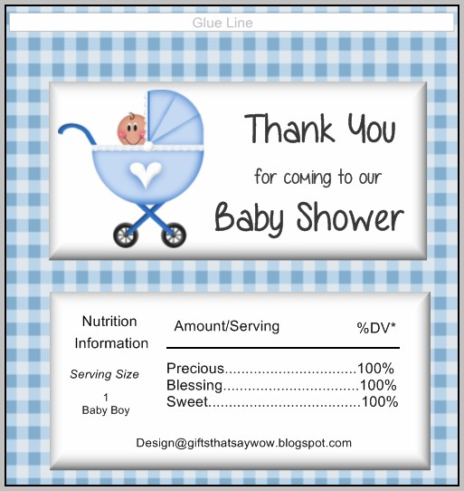 Baby Shower Candy Wrappers Templates Free