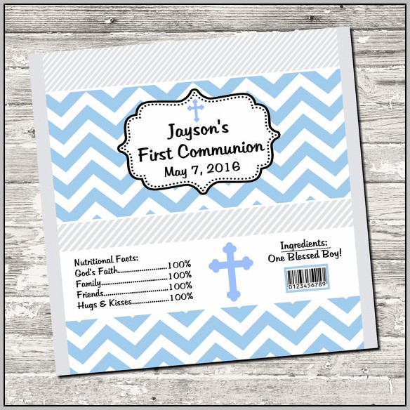 Baptism Candy Bar Wrappers