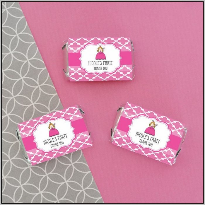 Candy Bar Sticker Labels