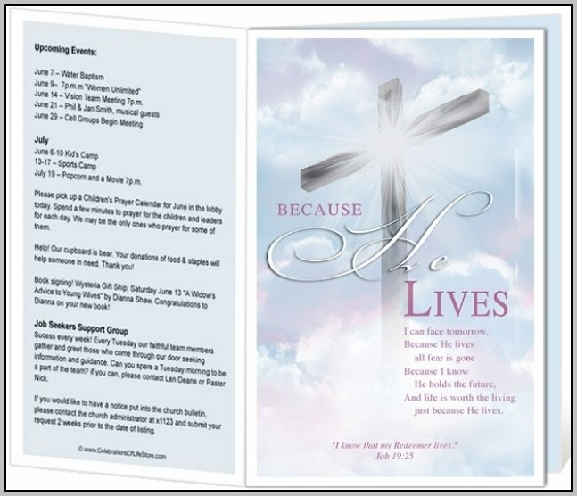 Catholic Church Bulletin Templates