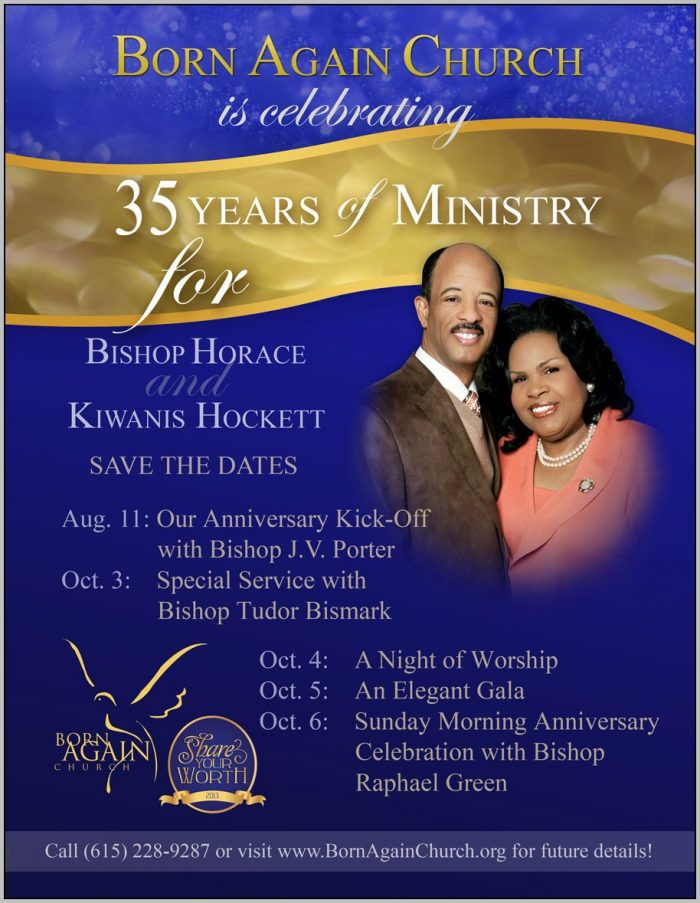 Church Anniversary Program Booklet Template