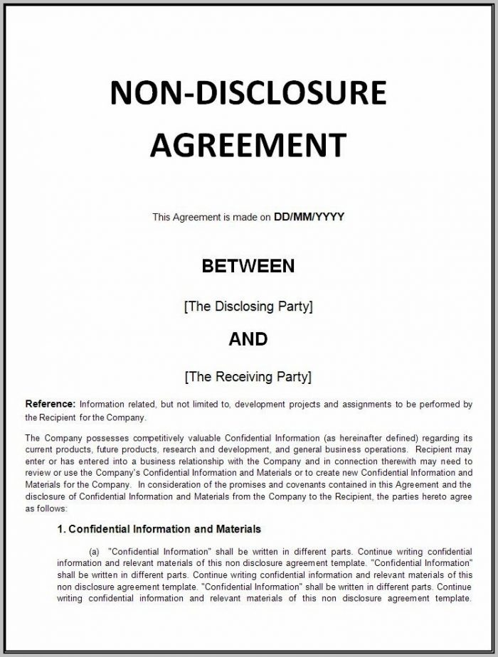 A Confidentiality Agreement
