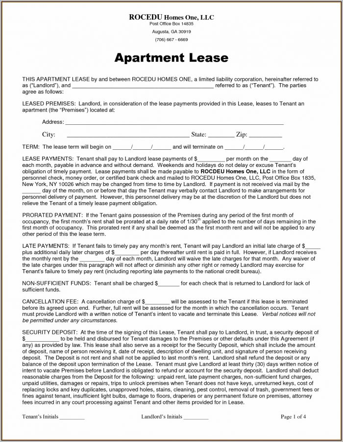 A Rental Agreement