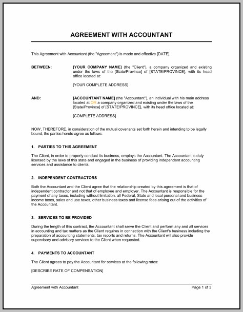 Accountant Confidentiality Agreement