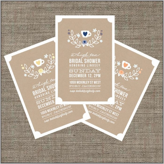 Afternoon Tea Bridal Shower Invitations