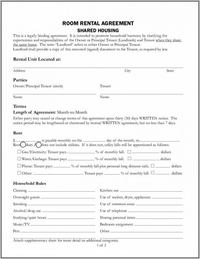 Agreement To Lease Form